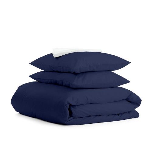 Комплект евро взрослого постельного белья RANFORS BLUE WHITE
