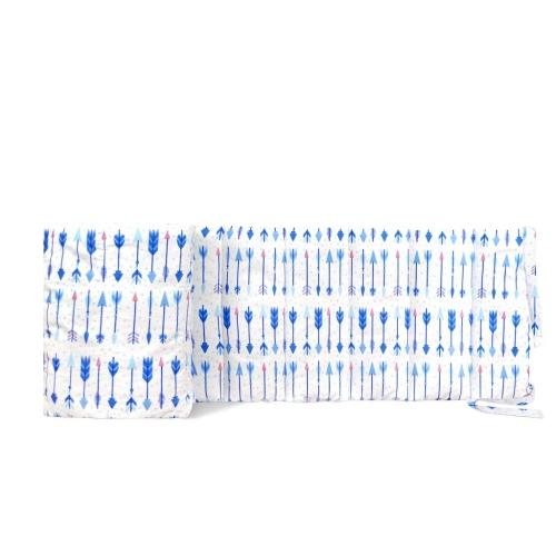 Бортик на детскую кроватку ARROWS BLUE