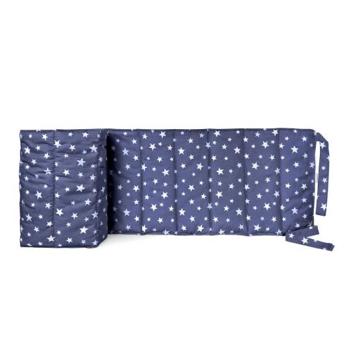Бортик на детскую кроватку STARSFALL DARK BLUE