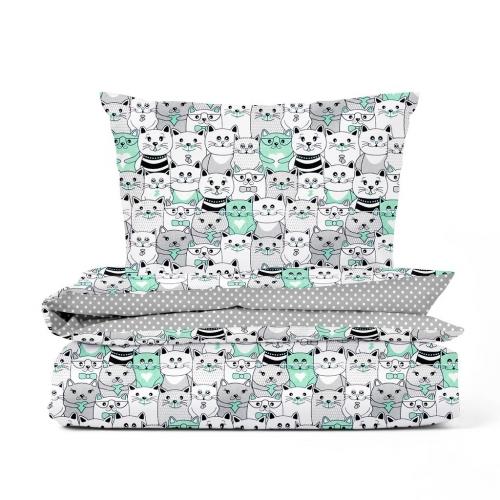 Комплект детского постельного белья CATS DOTS /2 предмета/