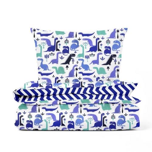 Комплект подросткового постельного белья DINO BLUE ZIGZAG /2 предмета/