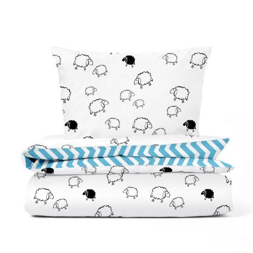 Комплект подросткового постельного белья SHEEP ZIGZAG BLUE /2 предмета/