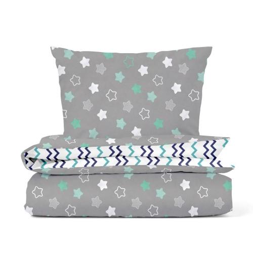 Комплект подросткового постельного белья STARS MINT ZIGZAG /2 предмета/