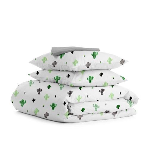 Комплект двуспального постельного белья CACTUS GREY