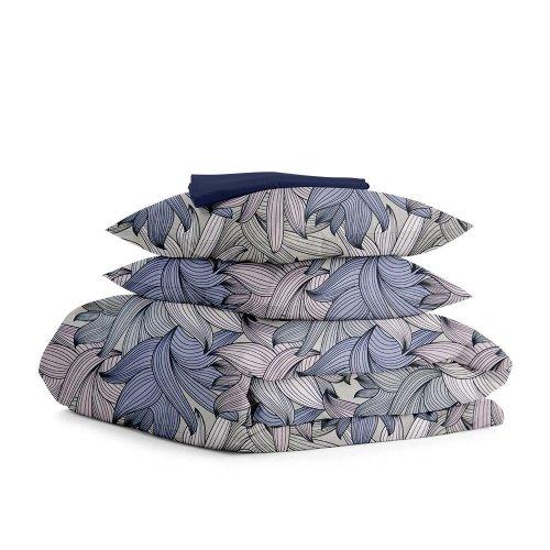 Комплект двуспального постельного белья PETAL DBLUE