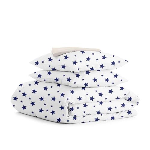 Комплект двуспального постельного белья STAR BIGB BLUE BEIGE