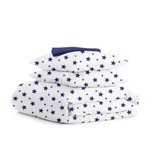Комплект двуспального постельного белья STAR BIGB BLUE DARK BLUE