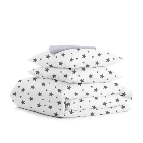 Комплект двуспального постельного белья STAR BIG GREY GREY