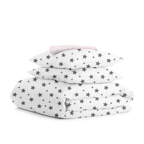 Комплект двуспального постельного белья STAR BIG GREY ROSE