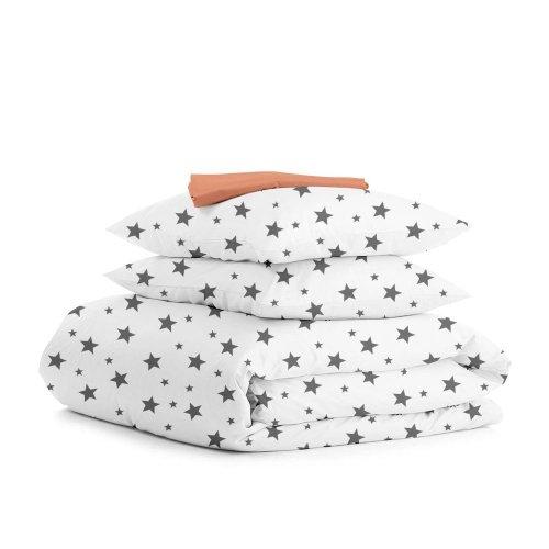 Комплект двуспального постельного белья STAR BIG GREY TERRAKOT