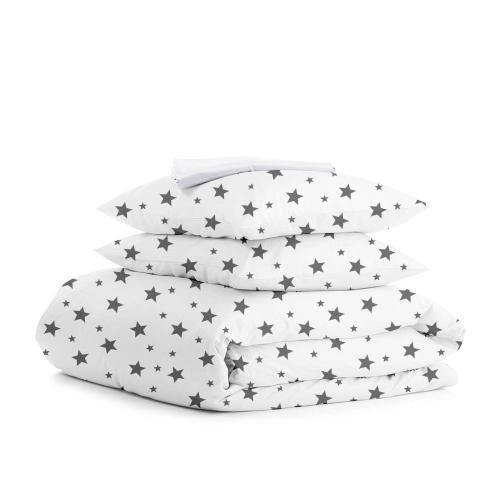 Комплект двуспального постельного белья STAR BIG GREY WHITE