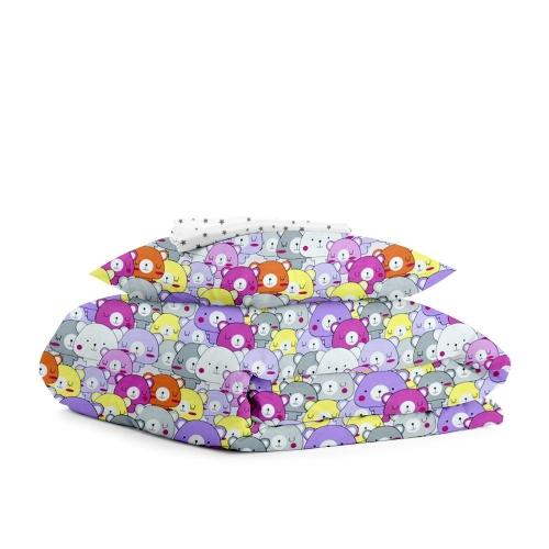 Комплект детского постельного белья BEARS COLOR STARS GREY