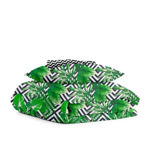 Комплект подросткового постельного белья PALMA /зигзаг черно-белый/