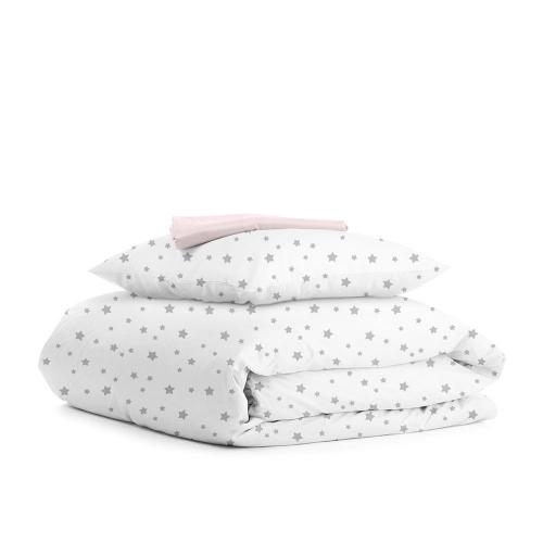 Комплект подросткового постельного белья STAR GREY ROSE