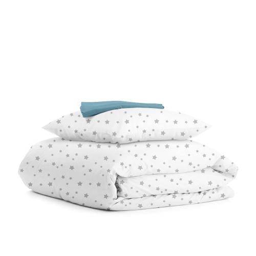 Комплект подросткового постельного белья STAR GREY SKY