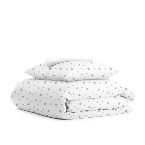 Комплект подросткового постельного белья STAR GREY WHITE