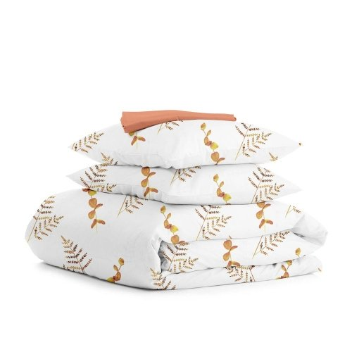 Комплект двуспального постельного белья FOLIAGE TERRAKOT TERRAKOT
