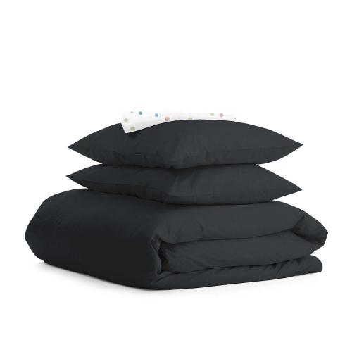Комплект евро взрослого постельного белья RANFORS BLACK COLOR BLOTS