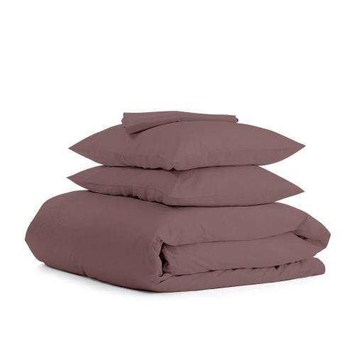 Комплект евро взрослого постельного белья RANFORS CHOCOLATE CHOCOLATE