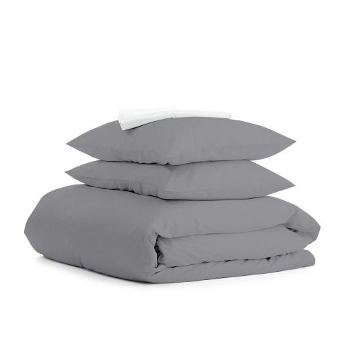 Комплект евро взрослого постельного белья RANFORS GRAPHITE WHITE