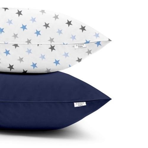 Наволочки набор STAR GREY BLUE DARK BLUE
