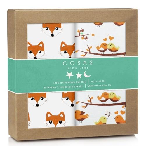 Набор пеленок бязь-фланель FOX BIRDS ORANGE