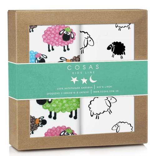 Набор пеленок бязь-фланель SHEEP SHEEP COLOR