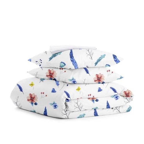 Комплект двуспального постельного белья AQUARELLE WHITE