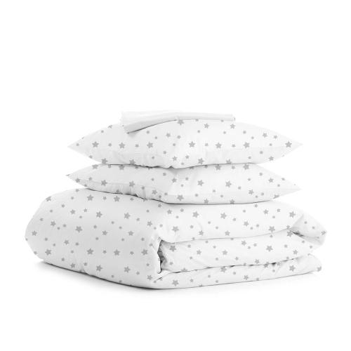 Комплект семейного постельного белья GREY STAR WHITE