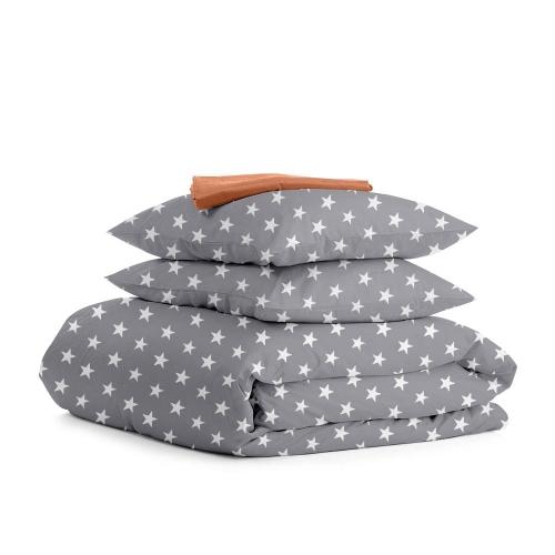 Комплект двуспального постельного белья STARS B GREY TERRAKOT