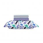 Набор DINO BLUE & ZIGZAG /наволочка 40х60 и простыни 60х120/