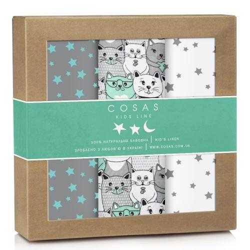 Набор пеленок бязь CATS STARSFALL