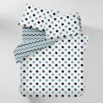 Комплект полуторного постельного белья SKY STARS /зигзаг бирюзово-серый/