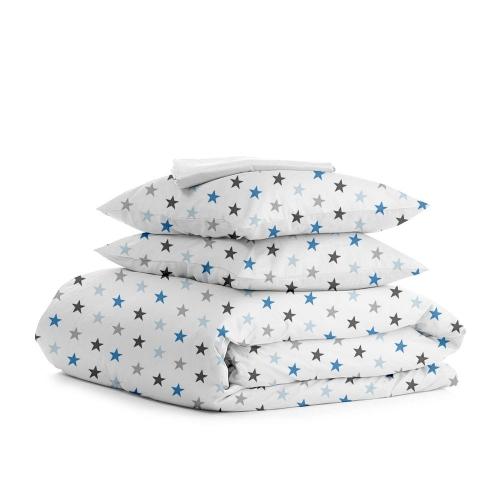 Комплект полуторного постельного белья STAR BLUE WHITE
