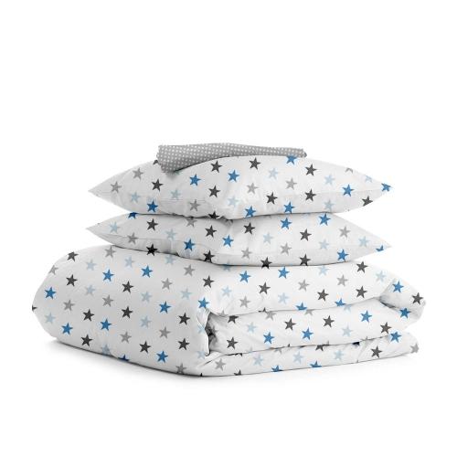 Комплект семейного постельного белья STAR BLUE GREY DROP