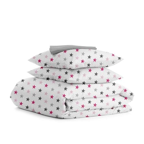 Комплект семейного постельного белья STAR ROSE GREY