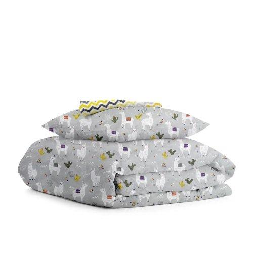 Комплект детского постельного белья CAMEL /зигзаг серо-желтый/
