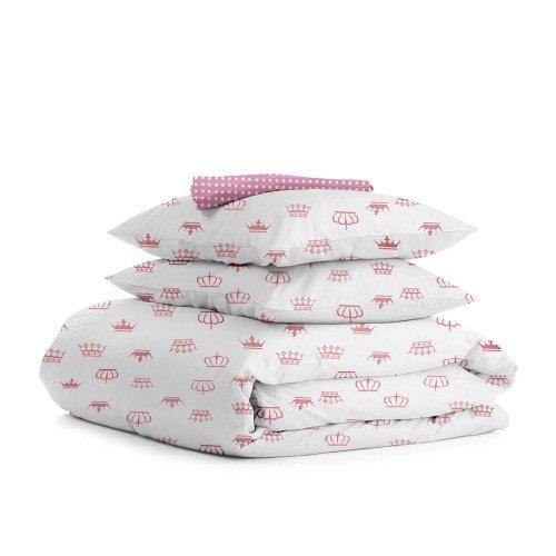 Комплект семейного постельного белья CROWN ROSE ROSE
