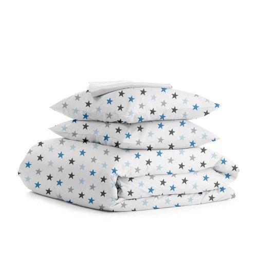 Комплект двуспального постельного белья STAR GREY BLUE WHITE