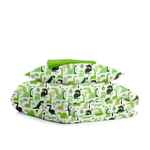 Комплект подросткового постельного белья DINO /зеленый горох/