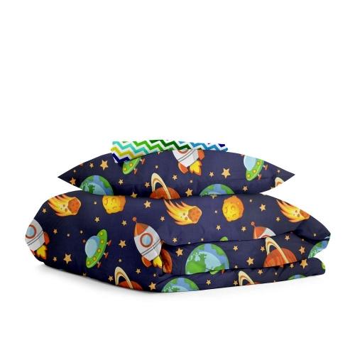 Комплект детского постельного белья SPACE /зигзаг цветной/