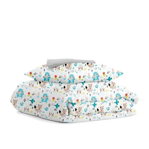 Комплект детского постельного белья GLADE ANIMALS /зигзаг серый мелкий/