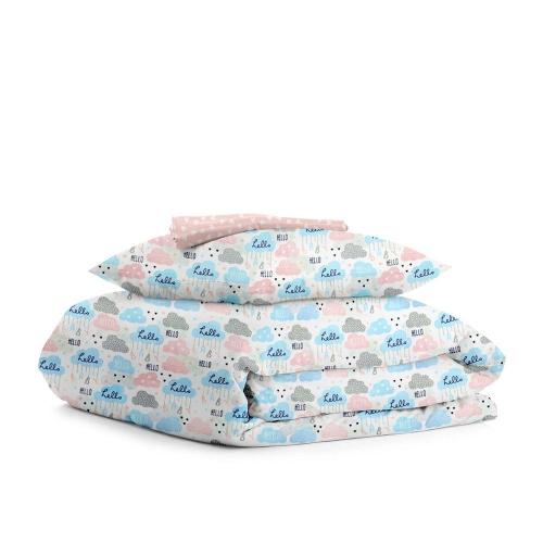 Комплект детского постельного белья CLOUD HELLO /сердца на розовом/