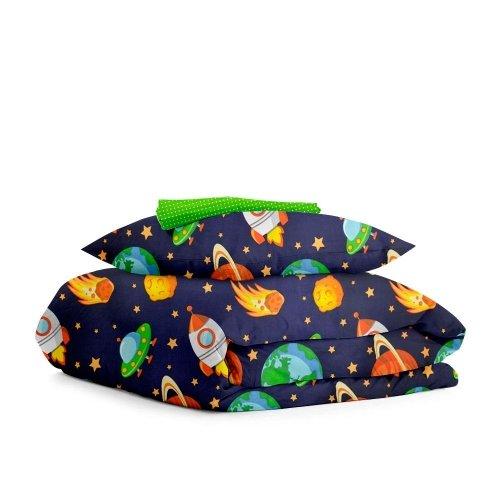 Комплект детского постельного белья SPACE /зеленый в горошек/