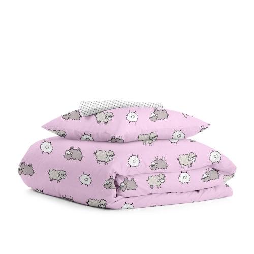 Комплект подросткового постельного белья SHEEP ROSE /горох серый/