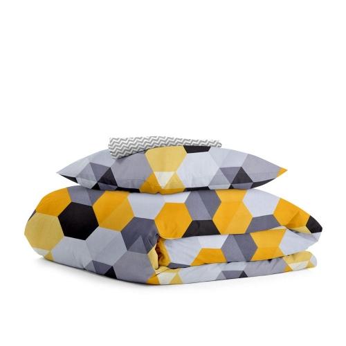 Комплект подросткового постельного белья HONEY /зигзаг серый мелкий/