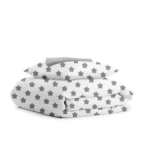 Комплект подросткового постельного белья STAR /серый/