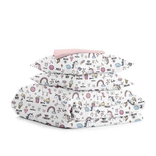 Комплект двуспального постельного белья UNICORN SWEET ROSE