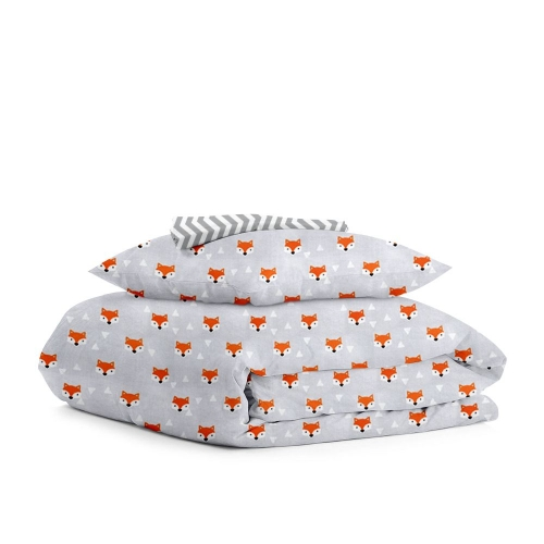 Комплект детского постельного белья FOXY FACE GREY /зигзаг серый/