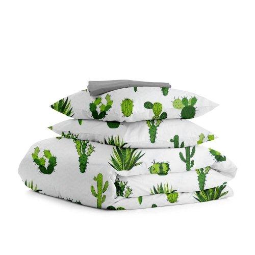 Комплект семейного постельного белья CACTUS GREEN